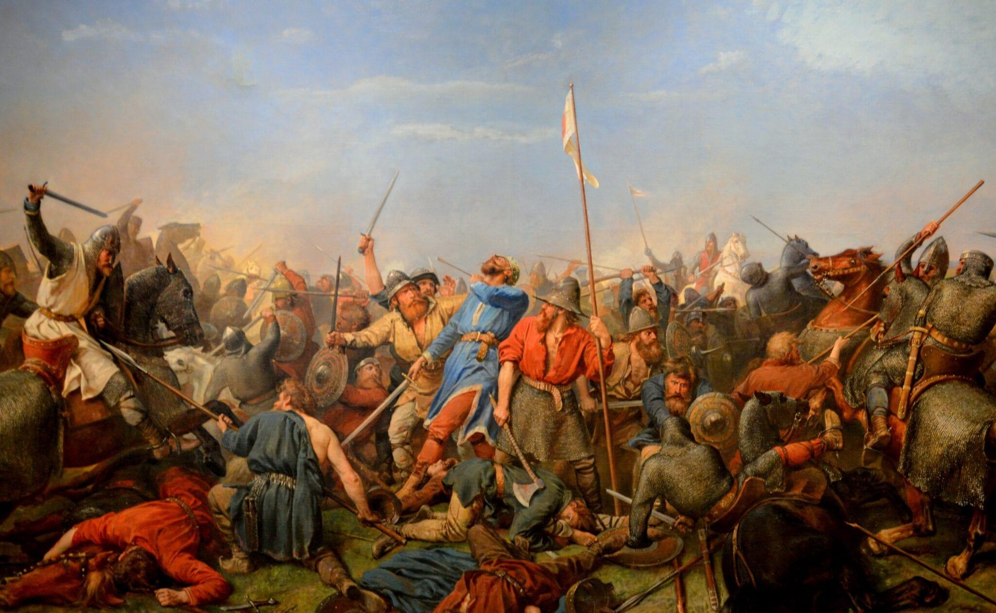 La muerte de Harald Hardrada en la batalla de Stamford Bridge