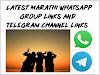 Latest Marathi WhatsApp Group Links And Telegram Channel Links List