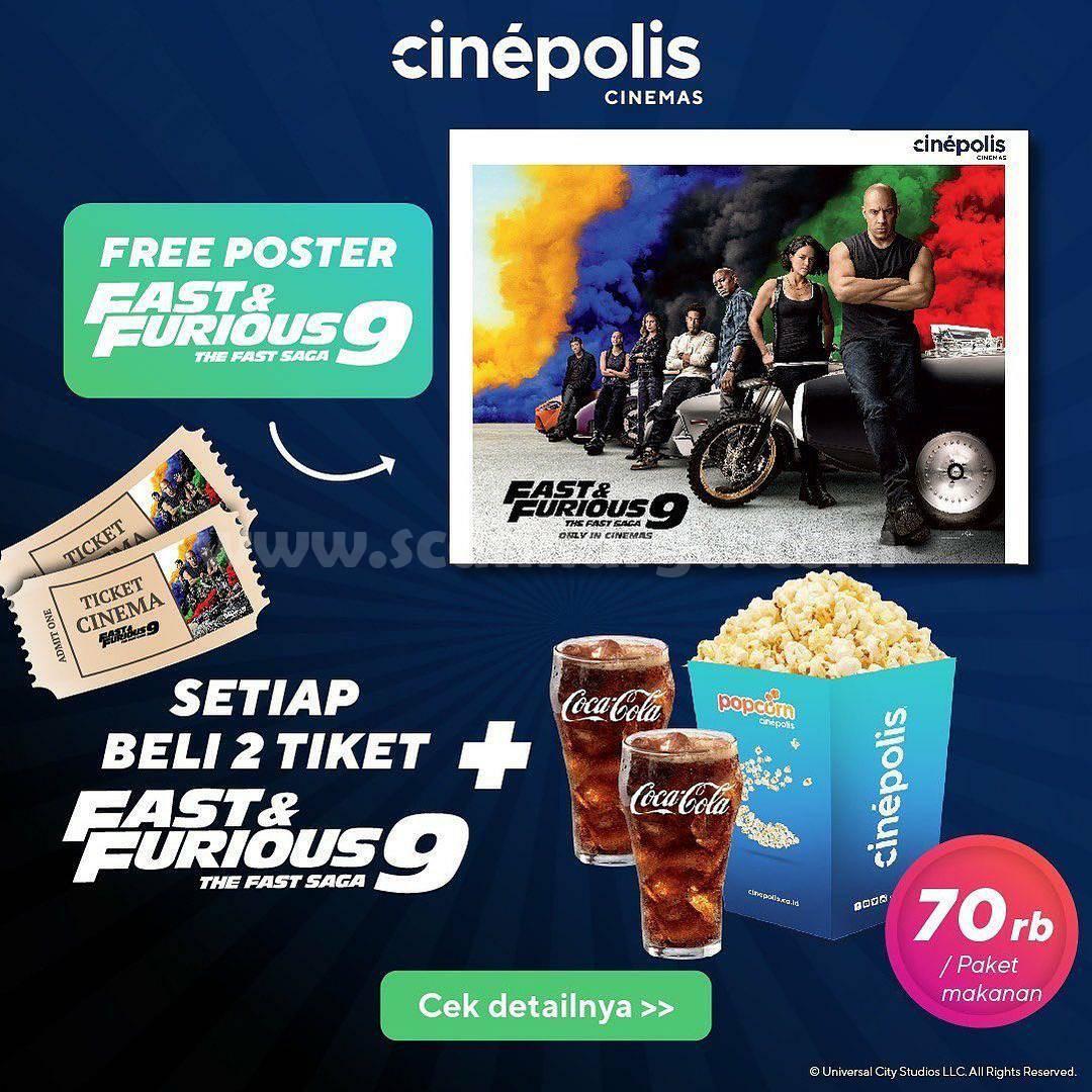 Promo CINEPOLIS GRATIS Poster FAST & FURIOUS 9