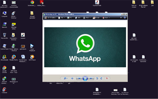 WhatsApp on Desktop PC