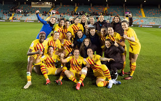 Super Falcons striker wins first European league title with Barcelona Femeni
