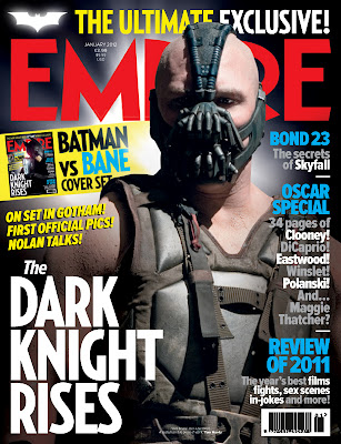 Empire Magazine January 2012 Cover - The Dark Knight: Tom Hardy as Bane