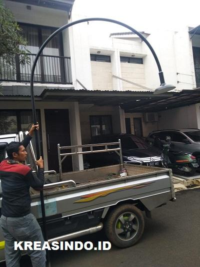 Repeat Order Tiang Lampu Taman Besi oleh Bu Arum di Ciputat Tangerang Selatan