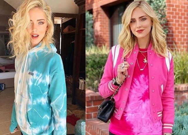 Chiara Ferragni blogueira famosa usando tie dye