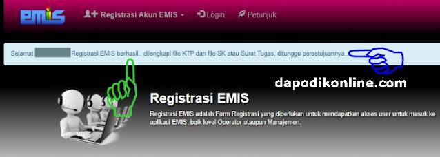 Registrasi Emis Pendis TPQ-Madin-Ponpes Berhasil