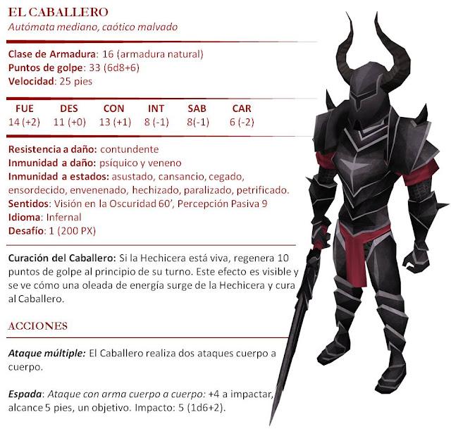 Monstruos D&D 5ª Edición - Marionetas Titiritero Caballero