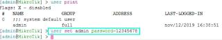 Set User Password Mikrotik