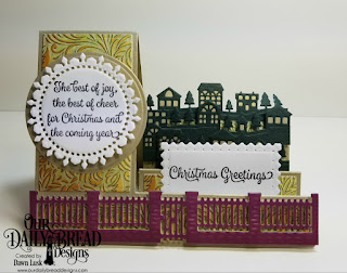Our Daily Bread Designs Stamp Set: Christmas Card Verses, Custom Dies:  Brick Gate Border, Neighborhood Border, Side Step, Side Step Layers, Circles, Fancy Circles, Filigree Frames, Paper Collection: Christmas 2015