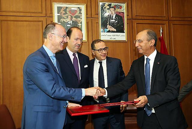 توقيع اتفاقية تنظيم الالعاب الدولية للثانويات (الجيمنازياد) 2018 بالمغرب