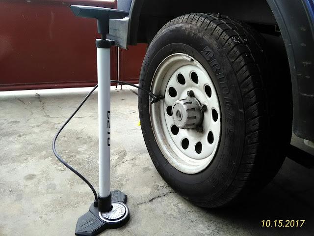 ban, tekanan, angin, udara, pompa, roda, ideal, kurang, besar, dirumah, sendiri