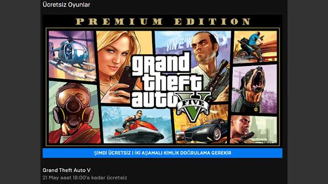 GTA V EpicGames'de Ücretsiz Oldu! Ücretsiz GTA V AL