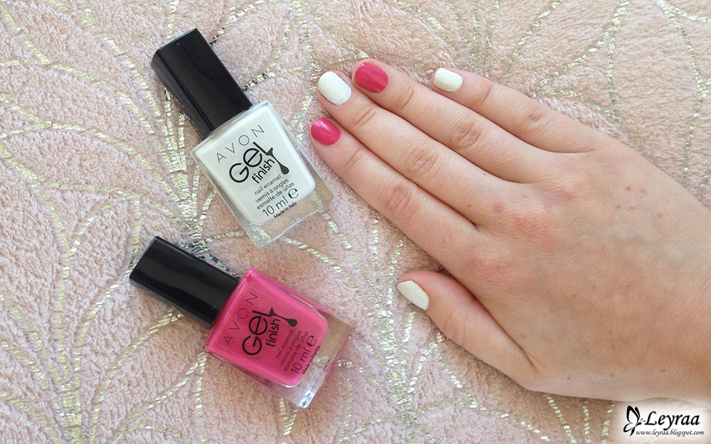 Avon Gel Finish - kolory Heavenly i Pink Obsession