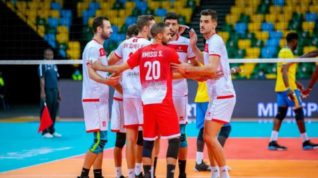 كرة الطائرة تونس تلاقي مصر في نصف النهائي