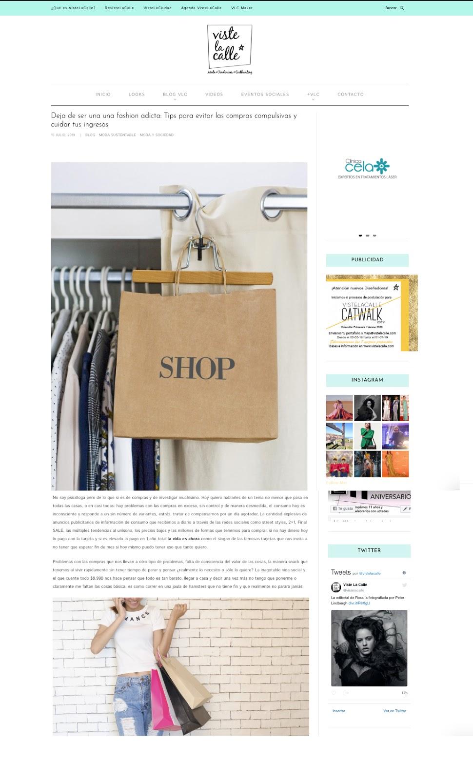 columnista de moda en chile - pamela victoria - consumo en chile de ropa - cuanta ropa consumimos los chilenos - experta en moda