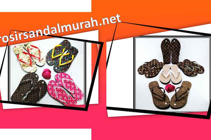 Grosir Sandal Murah || AMX Motif-Bunga Spon Wanita