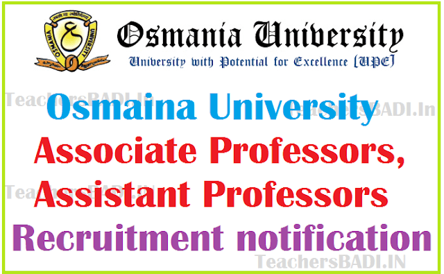 OU Associate, Assistant Professors Recruitment 2016
