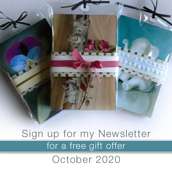Sign up for my website newsletter for a free gift offer during the month of October, 2020