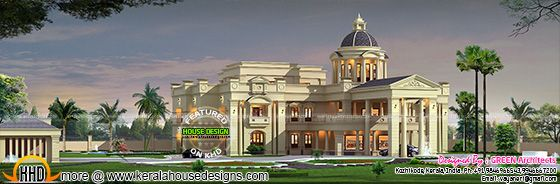 Mansion design in Kerala