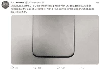 تسريبات من موقع تويتر عن هاتف mi 11