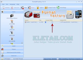 Proses Pengubahan Format Video