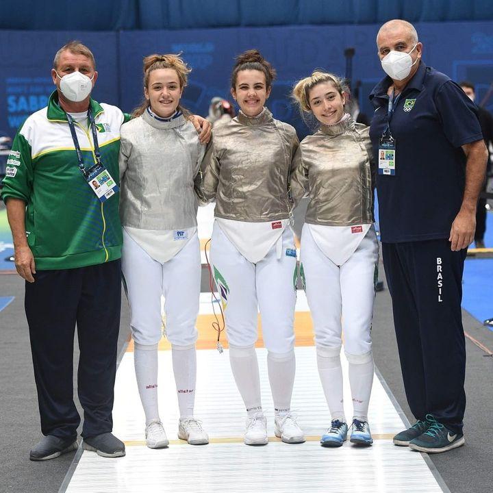 Brasil sabre esgrima femino Lakerbai pekelman trois chierighinni
