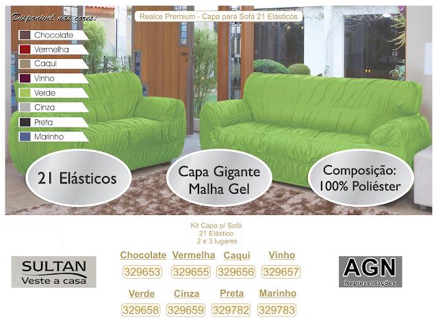 Capa de sofá 21 elásticos SULTANTEX