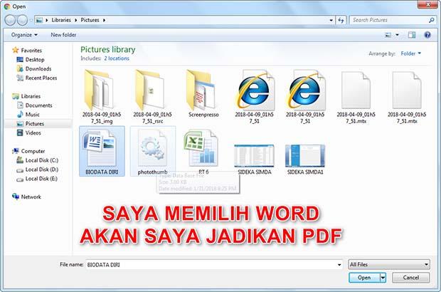 Cara Merubah Word ke PDF Tercepat