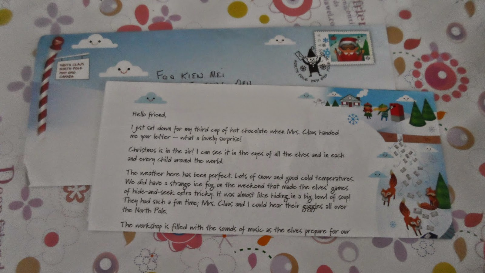letters to santa in canada interesting corner of me 2014 letter from 12362