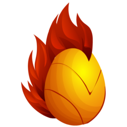 Aparência de ovo Dragão Topete