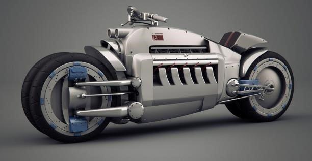 gambar 1 Dodge Tomahawk V10 Superbike motor antik termahal di dunia