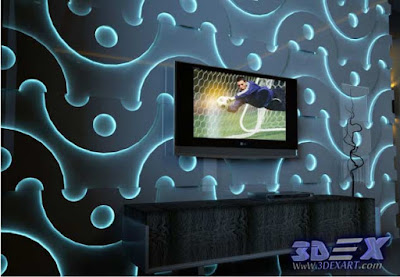 3d decorative wall panels, Modern 3d wall panels, 3d tv wall panels with led lighting