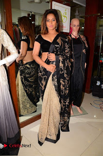 Actress Neetu Chandra Stills in Black Saree at Designer Sandhya Singh's Store Launch  0079.jpg