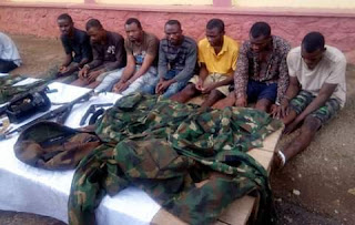 Leader of robbery syndicate operating in military uniform along Benin-Lagos expressway lies to wife he was injured in accident after fleeing gun battle with police