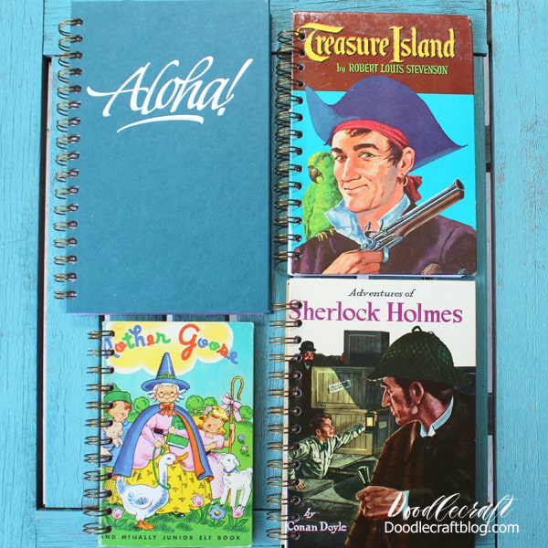 Upcycled Book Notebooks Made With The Cinch Diy
