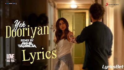 Yeh Dooriyan Lyrics - Mohit Chauhan