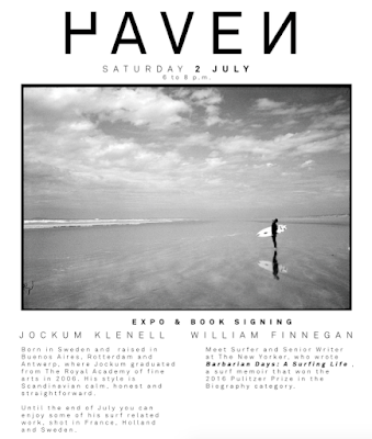 Haven Expo & William Finnegan Boekvoorstelling