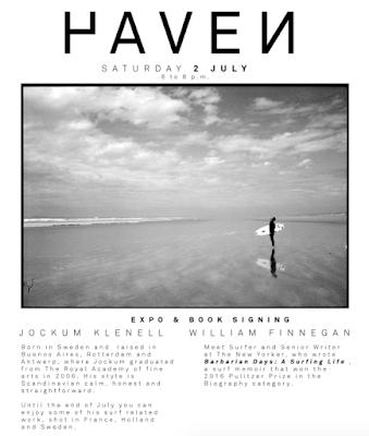 Haven Expo & William Finnegan Boekvoorstelling