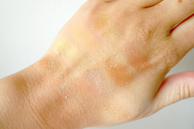 paletka cieni glamshop gorączka złota swatche