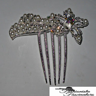 silver star side comb with white pearls Nairobi Kenya