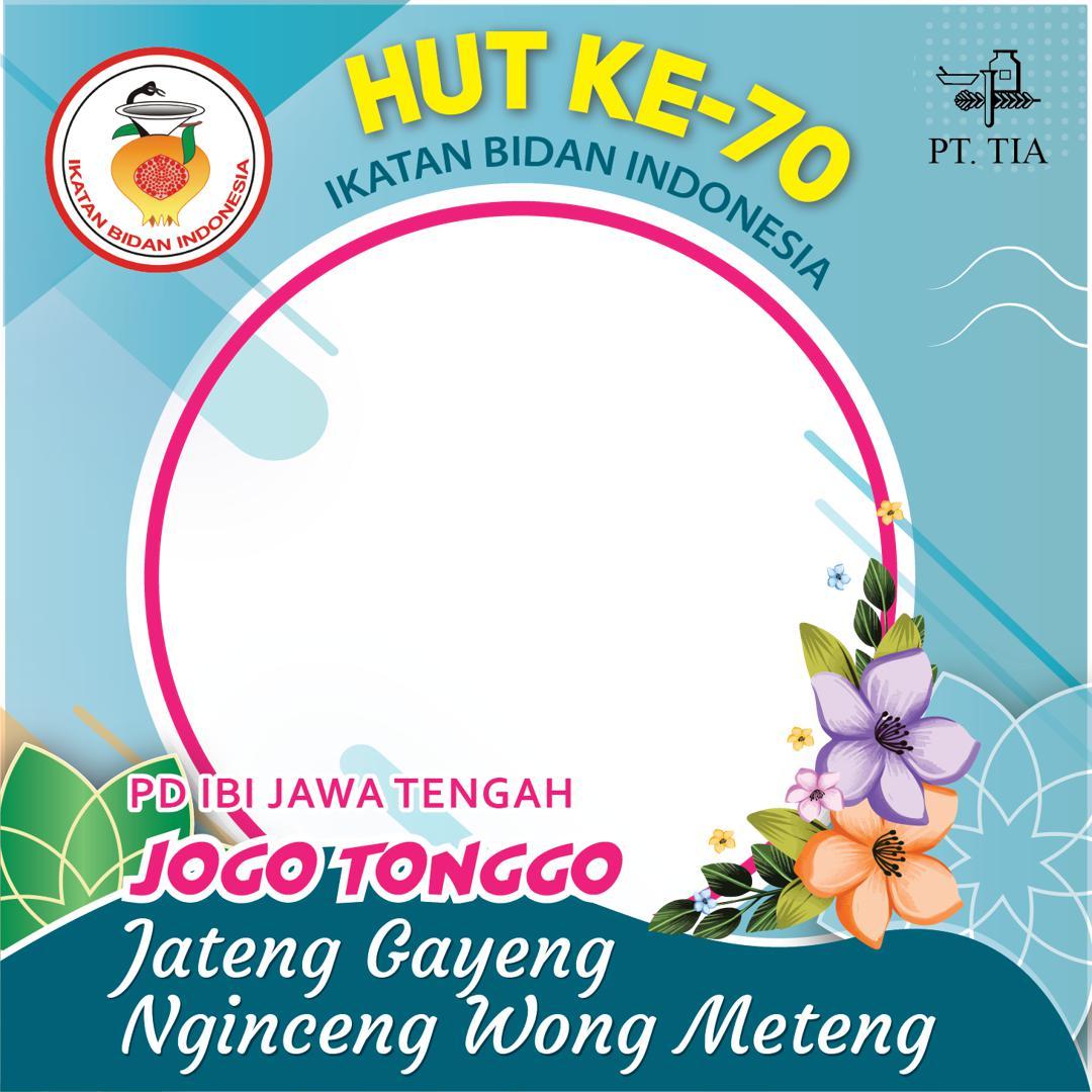 Template Desain Bingkai Foto Twibbon Ulang Tahun Ikatan Bidan Indonesia 2021 - Jawa Tengah