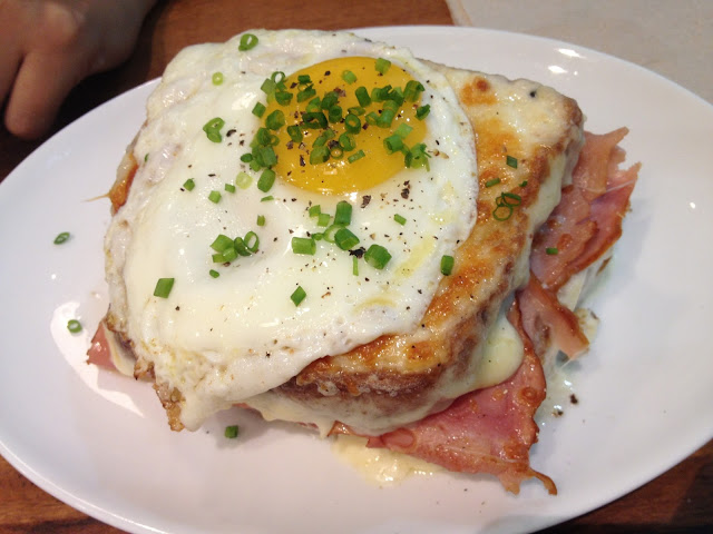 Croque Madame at Wildflour Café + Bakery