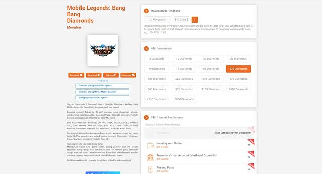 Website Codashop dan Unipin Kembali Normal Event Top Up 100 Diamond Mobile Legends