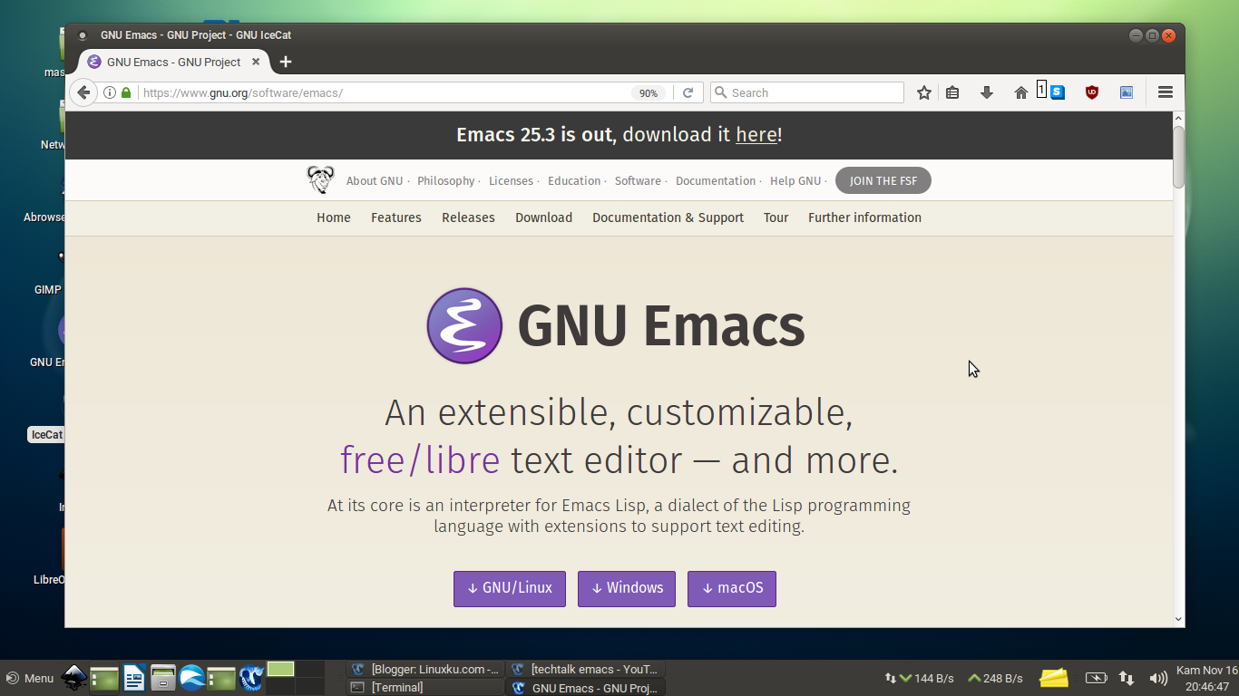 Panduan dasar emacs untuk pemula bagian 4