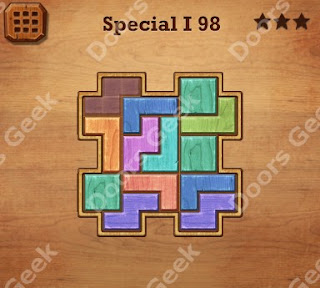 Cheats, Solutions, Walkthrough for Wood Block Puzzle Special I Level 98