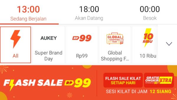 Cara Menang Flash Sale Shopee