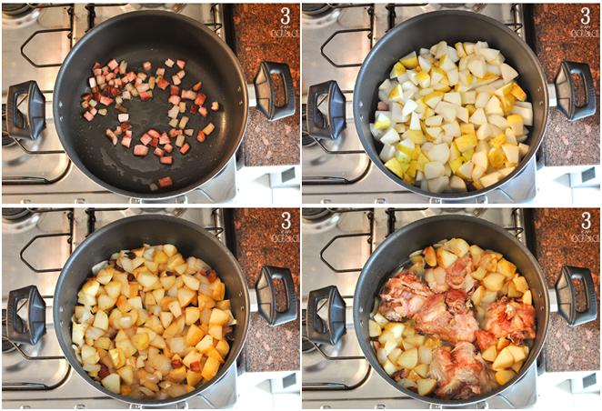 como preparar frango cozido pera
