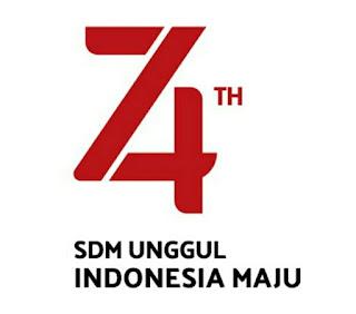 Logo hut kemerdekaan ri ke 74 tahun 2019