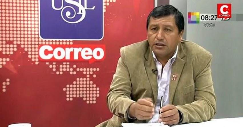 No hemos convocado a huelga de profesores, sostiene Alfredo Velásquez, secretario general del SUTEP