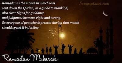 Ramadan Mubarak To The Muslims: Ramadan is the month in which was