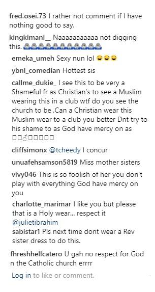 Fans React As Juliet Ibrahim Dresses Up As Sexy Nun For Halloween